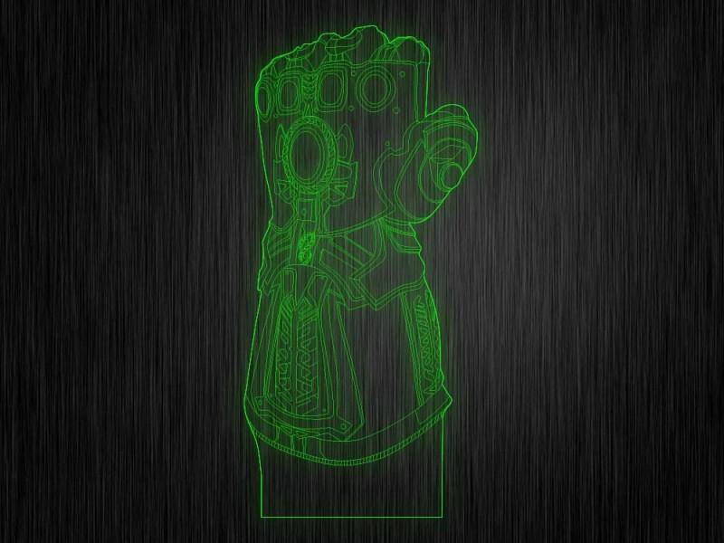 """Ночник """"Перчатка таноса"""" арт. 0497 на светодиодной подставке"""
