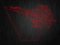 """Ночник """"Самолет истребитель"""" арт. 0486 на светодиодной подставке"""
