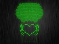 """Ночник """"Сердце в руках Много сердец"""" арт. 1383 на светодиодной подставке"""