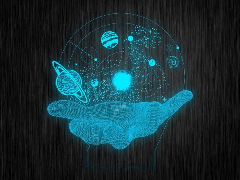 """Ночник """"Вселенная на ладони"""" арт. 1723 на светодиодной подставке"""