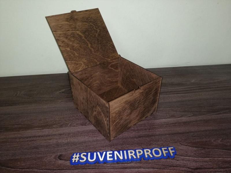 Деревянная коробка, 16*16*11 см