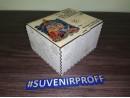 """Деревянная коробка """"Подарок от Деда Мороза-1"""" с гибкой крышкой + фотопечать на крышке, 18*16*11 см"""