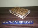 """Деревянная подарочная коробка с объемными надписями """"Поздравляем"""", 14*19 см"""