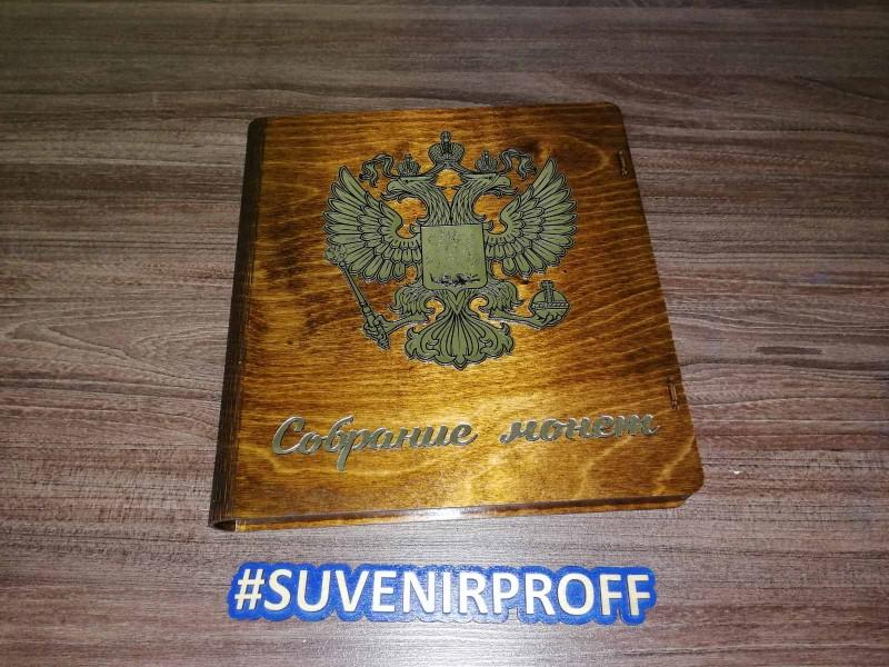 Деревянная шкатулка с гибкой крышкой для коллекционирования монет лакированная-1