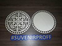 Комплект из донышка и крышки с узором круглые для вязания из фанеры-2