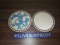 Комплект из донышка и крышки с узором круглые для вязания из фанеры-8