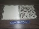 Комплект из донышка и крышки с узором квадратные для вязания из фанеры