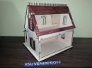Конструктор Двухэтажный домик из фанеры 3 мм, 34*30*35 см