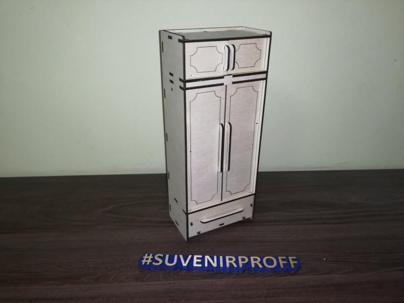 """Конструктор """"Деревянный шкаф для кукол барби"""", 29*12*7 см"""