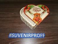 Коробочка в виде сердца из фанеры 3 мм с фотопечатью-4