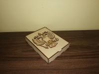 Подарочная коробочка с гравировкой для обложек, 15*11*2,5 см