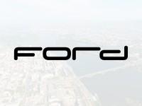 Наклейка Надпись Ford на шильдик