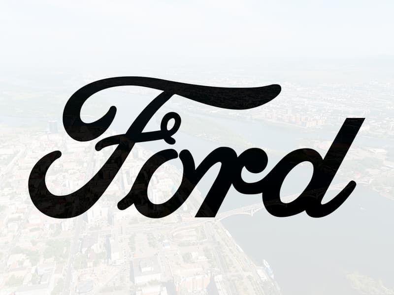 Наклейка Надпись Ford оригинальный шрифт на шильдик