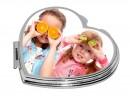 Макияжное зеркальце в форме сердца