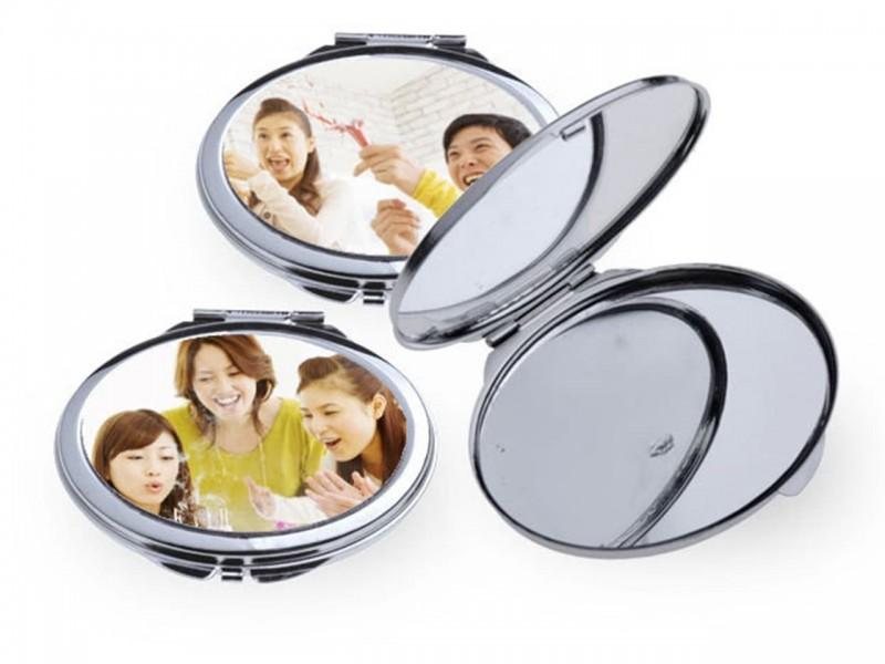 Макияжное зеркальце овальное