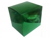 Коробка для кружки голографическая зеленая