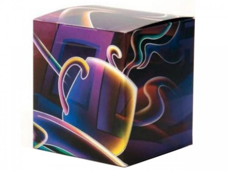 """Коробка для кружки """"Фиолетовая"""""""