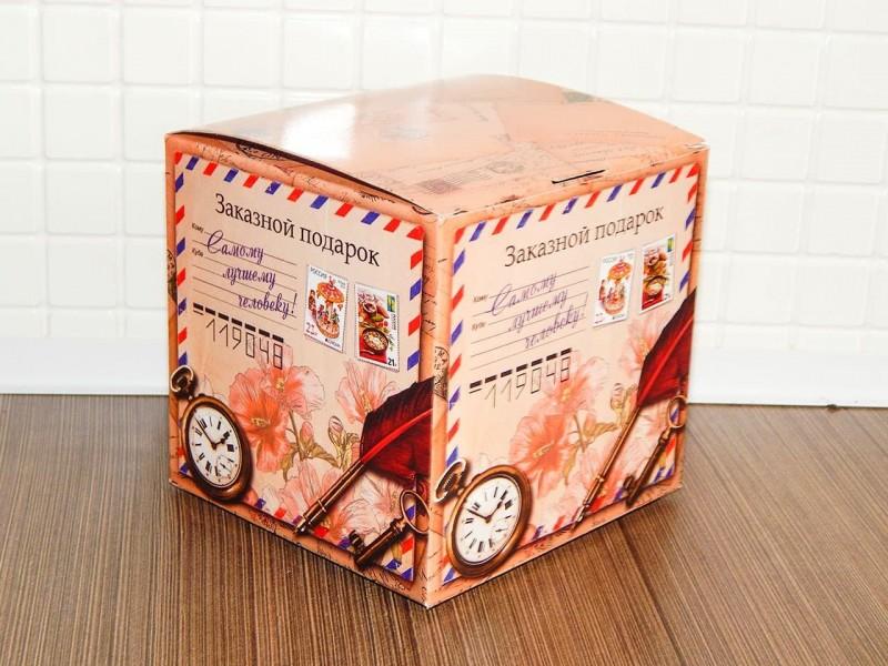 "Коробка для кружки ""Винтажная посылка"""