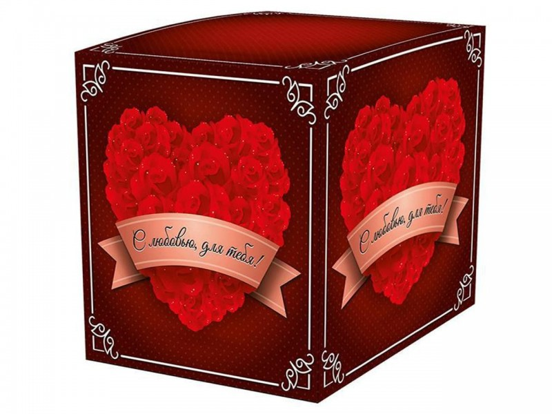 """Коробка для кружки """"С любовью для тебя"""""""