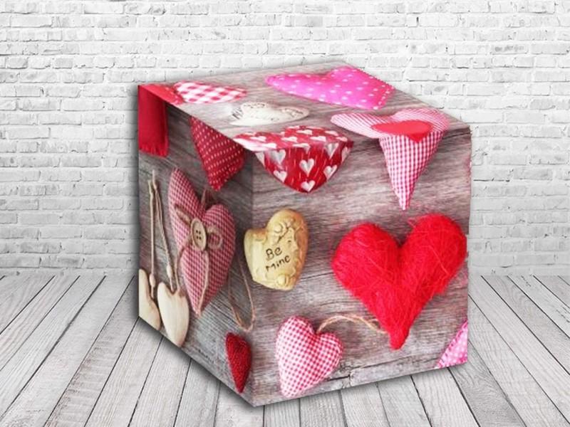 """Коробка для кружки """"Мягкие сердечки"""""""