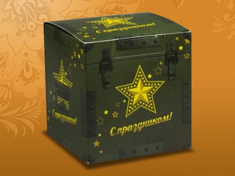 """Коробка для кружки """"Мужская С праздником!"""""""