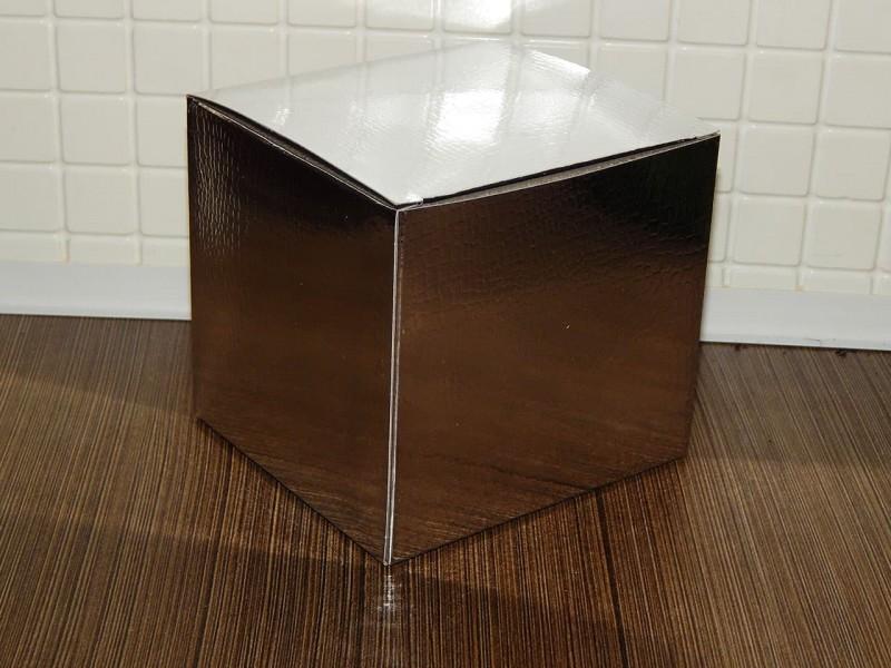 Коробка для кружки голографическая серебро