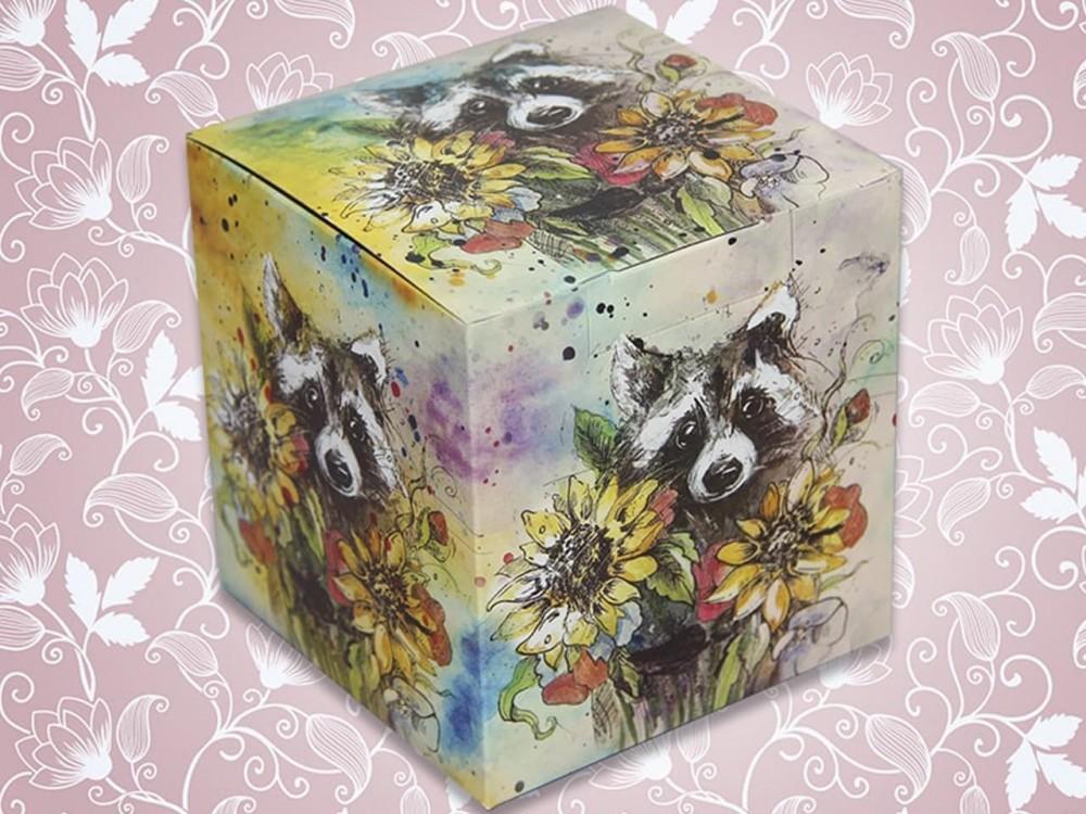 """Коробка для кружки """"Енот"""""""