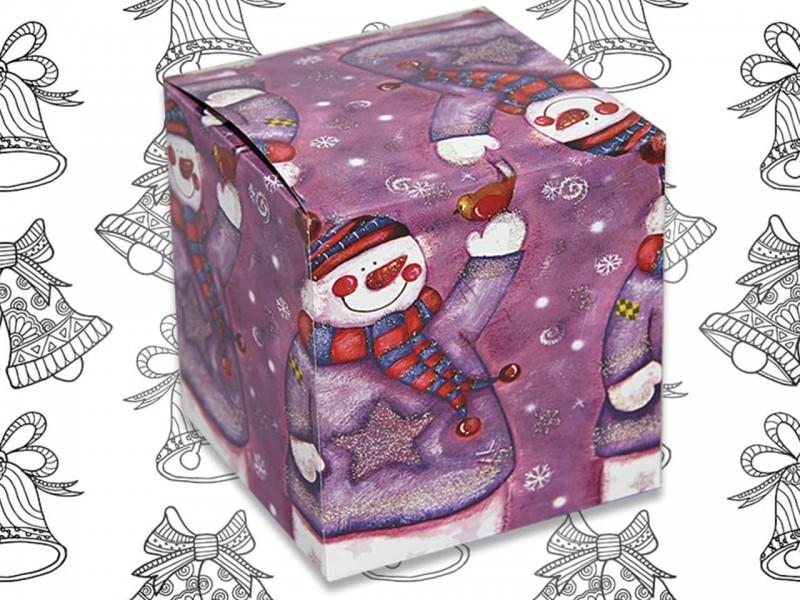 """Коробка для кружки """"Снеговик"""""""