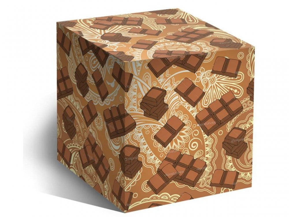 """Коробка для кружки """"Шоколадка"""""""