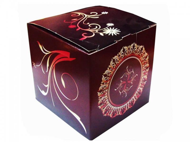 """Коробка для кружки без окна """"Бордовый винтаж"""""""