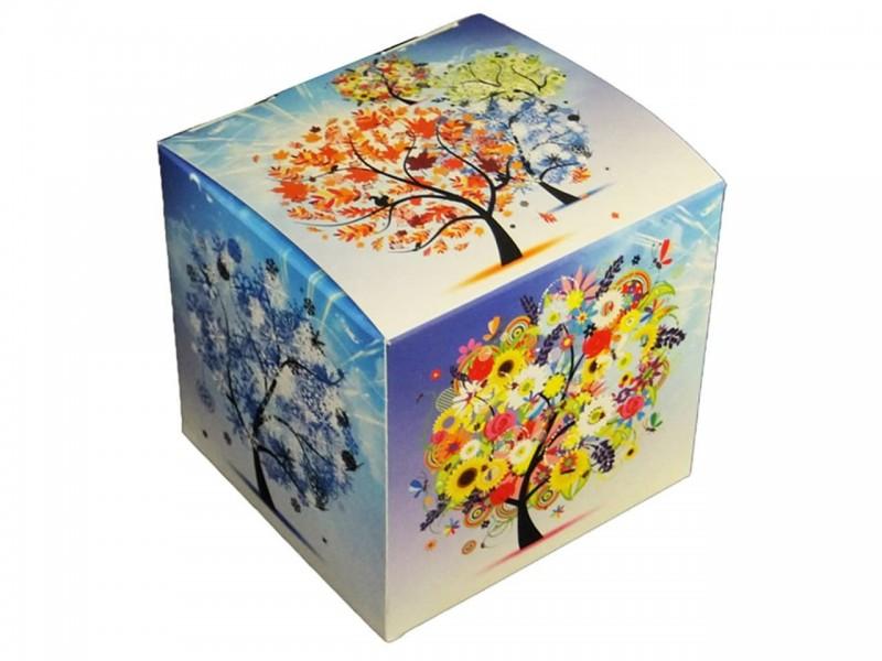 """Коробка для кружки без окна """"Времена года"""""""