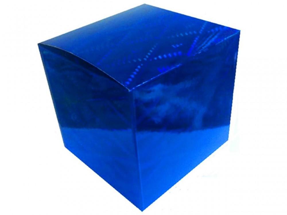 Коробка для кружки голографическая синяя