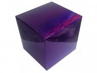 Коробка для кружки голографическая фиолетовая