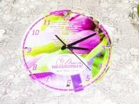 Часы стеклянные круглые BL-15, d=30 см