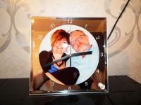 Часы стеклянные квадрат BL-14, 20*20 см