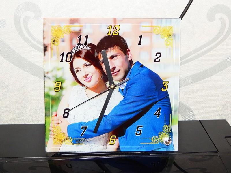 Часы стеклянные квадрат BL-26, 20*20 см